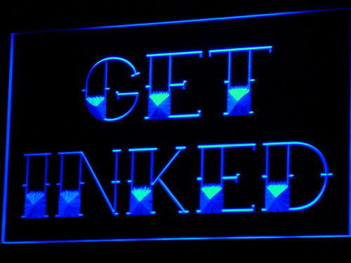 Inkredible inc tattoos services for Neon tattoo signs